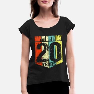 20th 20th birthday - Women's Rolled Sleeve T-Shirt