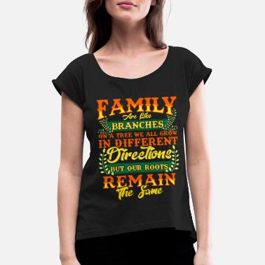 Crest FAMILY | Family Values Family Crest Gift - Women's Rolled Sleeve T-Shirt