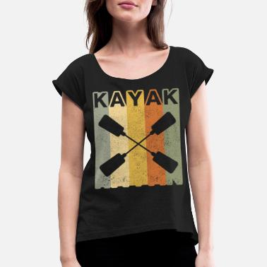 Vintage 70s Kayak Paddle Vintage 70s - Women's Rolled Sleeve T-Shirt