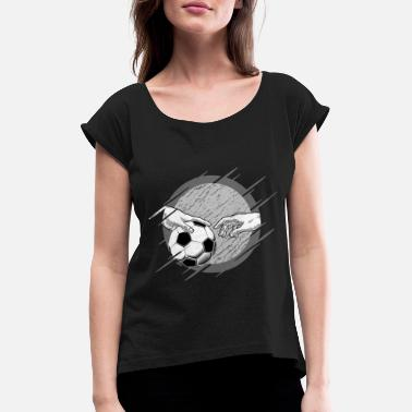 Football Michel-ange football soccer ball sport district ligue - T-shirt à manches retroussées Femme
