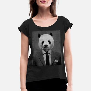 2018 Dandy Panda - Women's Rolled Sleeve T-Shirt