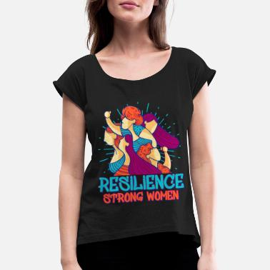 Lucky Charm Resilience Strong Women - Women's Rolled Sleeve T-Shirt