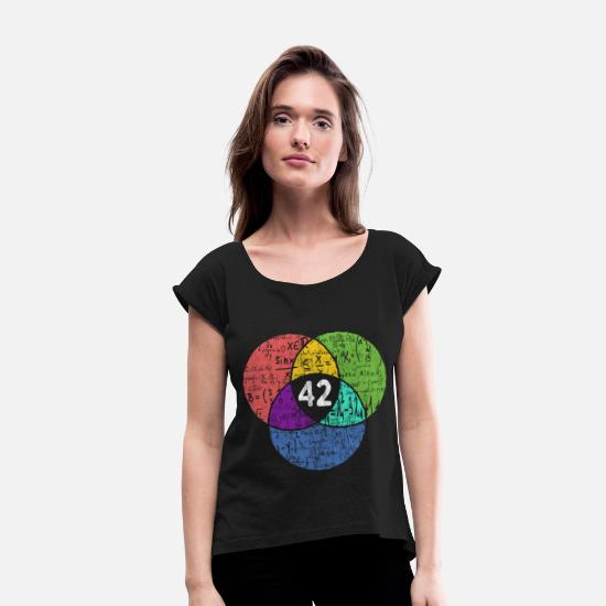Geek T-Shirts - 42 - Nerd Geek - science fiction - Women's Rolled Sleeve T-Shirt black