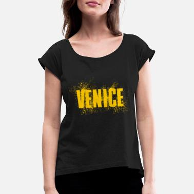 Venice Venice Beach United States - Women's Rolled Sleeve T-Shirt