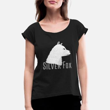 Silver silver fox - Women's Rolled Sleeve T-Shirt