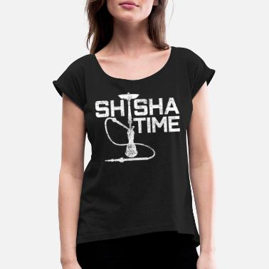 Bar Sports Shisha Bar Sports - Women's T-Shirt with rolled up sleeves