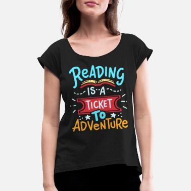 Read Read reading - Women's Rolled Sleeve T-Shirt
