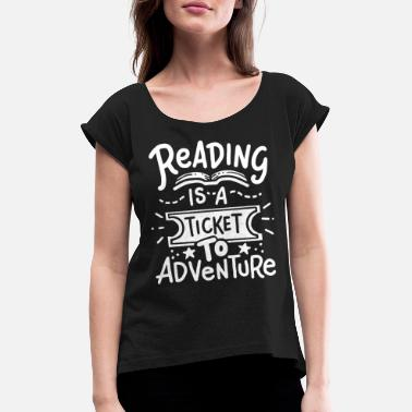 Read Read Read Read - Women's Rolled Sleeve T-Shirt