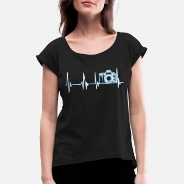 Photography Heartbeat photography - Women's Rolled Sleeve T-Shirt