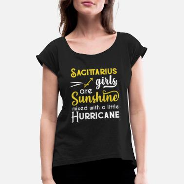 Star Sagittaire Girls Are Sunshine Mixed With A - T-shirt à manches retroussées Femme