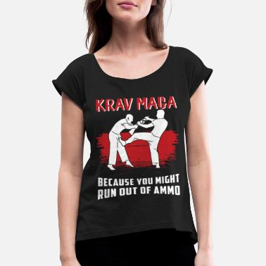 Krav Maga Melee Self-Defense Martial Arts - Women's Rolled Sleeve T-Shirt