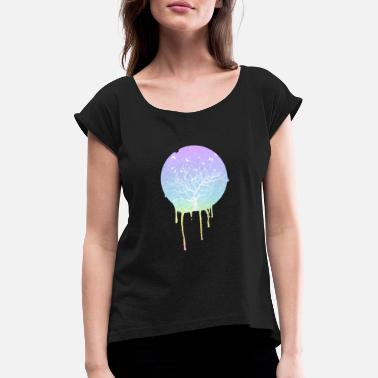 Ski Bum unique sweet heaven bum nature candy forest - Women's T-Shirt with rolled up sleeves