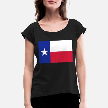 Lone Star Lone Star Texas Flag - Women's Rolled Sleeve T-Shirt