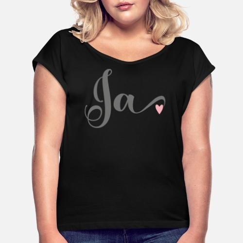 Met Mouwen Shirt T Bruids Vrouwen Opgerolde Overhemd JaHart cq43RLS5Aj