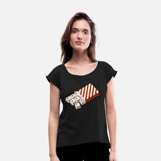 Funny T-Shirts - chockeys v2 - Women's Rolled Sleeve T-Shirt black