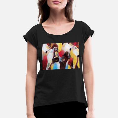 Contemporary Contemporary Abstract Art - Women's Rolled Sleeve T-Shirt