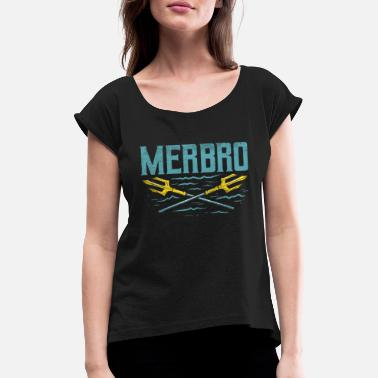MERMAID / SWIMMING: Merbro - T-shirt med upprullade ärmar dam