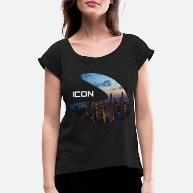Icon Icon - Women's Rolled Sleeve T-Shirt