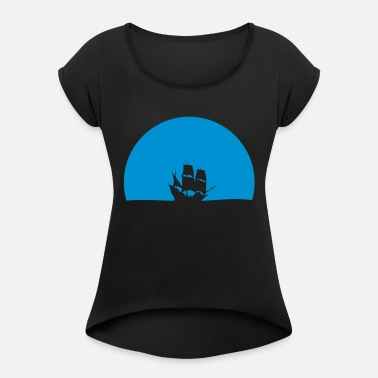 Tall Ships ship - Women's Rolled Sleeve T-Shirt