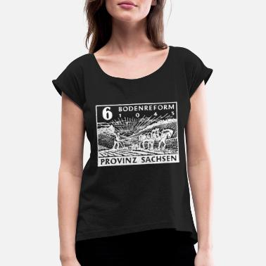 Reformation Land Reform Saxony - Women's Rolled Sleeve T-Shirt