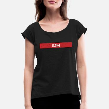 Chicago IDM House Techno EDM - Frauen T-Shirt mit gerollten Ärmeln
