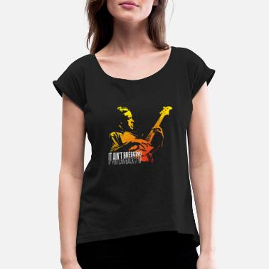 It ain't bregging if you can back it up - Vrouwen T-shirt met opgerolde mouwen