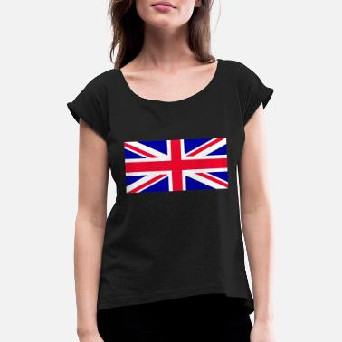 Great Britain - Union Jack - Women's Rolled Sleeve T-Shirt