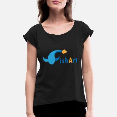 Graphic Art Fish art - Women's Rolled Sleeve T-Shirt