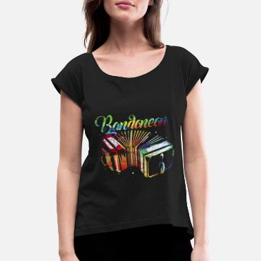 Tape Bandoneon wind instrument gift - Women's Rolled Sleeve T-Shirt