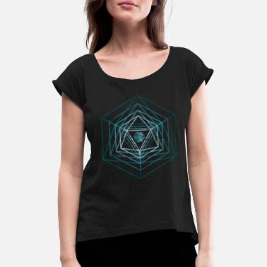 Dungeons The dice radiate inside me - D & D, dnd - Women's Rolled Sleeve T-Shirt