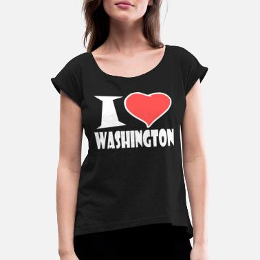 Washington Washington - Frauen T-Shirt mit gerollten Ärmeln