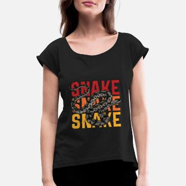 Boa Snake | Retro | constrictor - Women's Rolled Sleeve T-Shirt