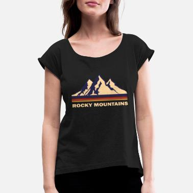 Rocky Mountains rocky mountains - Women's Rolled Sleeve T-Shirt