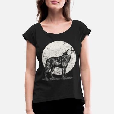 Wolfpack wolf - Women's Rolled Sleeve T-Shirt