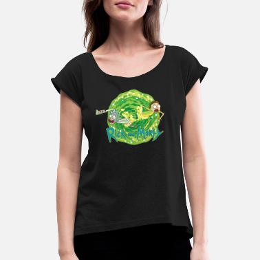 Rick Rick And Morty Multidimensionale Reisen - Frauen T-Shirt mit gerollten Ärmeln