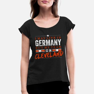 Cleveland Browns Cleveland Football Fans Germany - Maglietta con risvolti donna