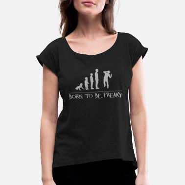 Development Line Dancer 7 - Human Development - Women's T-Shirt with rolled up sleeves