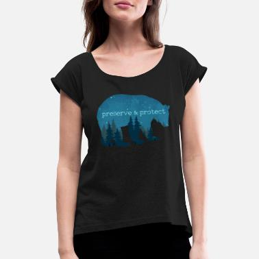 Nature Conservation Nature Conservation - Bear Nature Gift - Women's Rolled Sleeve T-Shirt