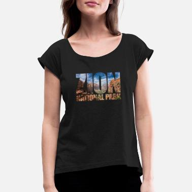 Utah Zion National Park Utah USA America Geology - Women's Rolled Sleeve T-Shirt