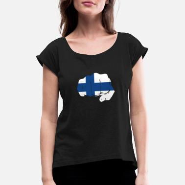 Finland Scandinavia - Women's Rolled Sleeve T-Shirt