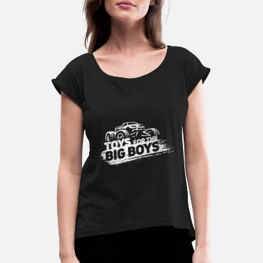 Monster Monster Truck - Women's T-Shirt with rolled up sleeves