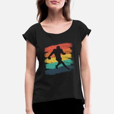 Running Back Running back football used - Women's T-Shirt with rolled up sleeves