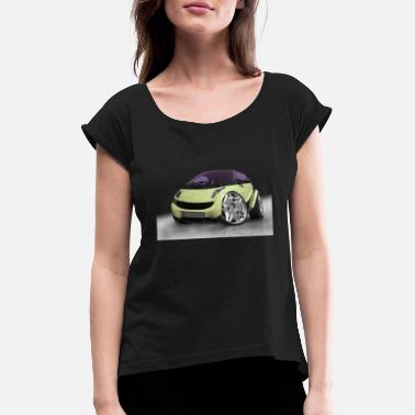 Photo Montage Car tuning, cars, photo montage, Cars - Women's Rolled Sleeve T-Shirt