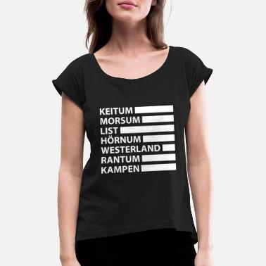 Keitum Sylt travel retro vacation tourist gift - Women's Rolled Sleeve T-Shirt