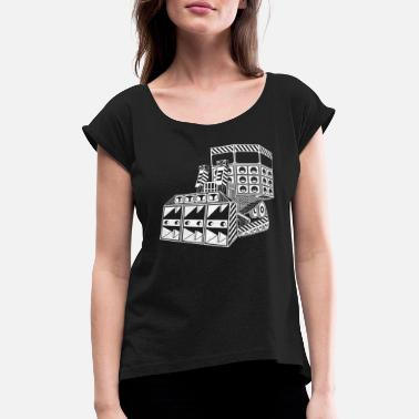 Tribe Tekno 23 bulldozer - Women's Rolled Sleeve T-Shirt