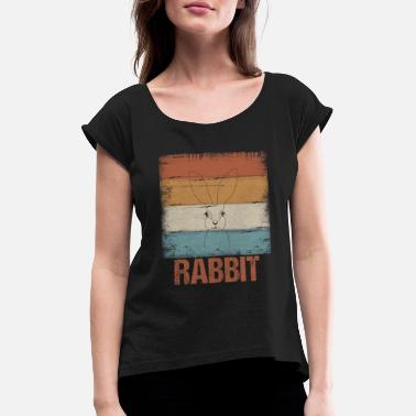 Rabbit Teeth Rabbit rabbit Rabbit - Women's Rolled Sleeve T-Shirt