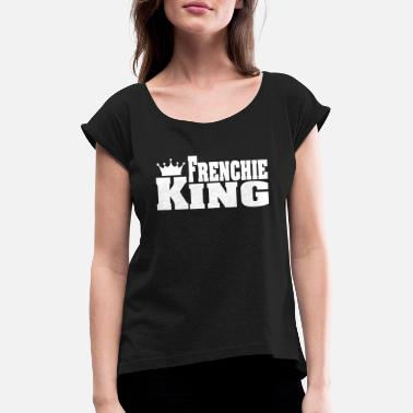 French Bulldog FRENCHIE KING French Bulldog - Maglietta con risvolti donna