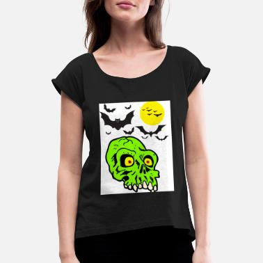 Psychobilly psycobilly skull - Women's Rolled Sleeve T-Shirt