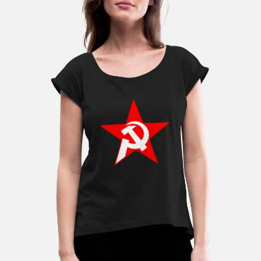 Communication communism - Women's T-Shirt with rolled up sleeves