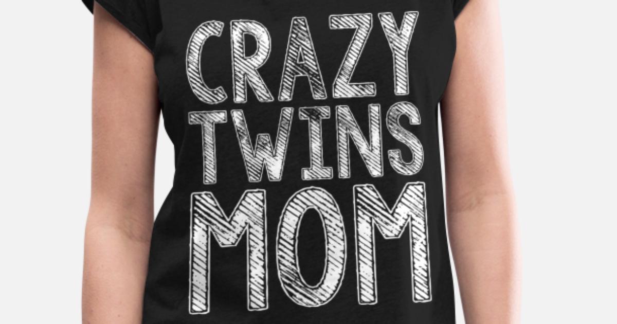 Mama von Zwillingen Damen T-Shirt Fun Shirt Geburtstag Geschenk Idee Muttertag